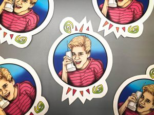 "5"" Sticker of Zack Morris"