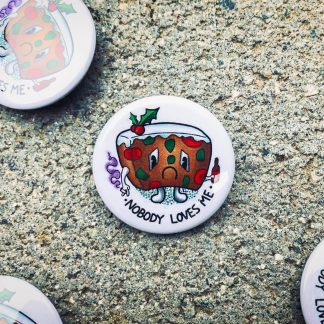 Sad Fruitcake Pinback Button