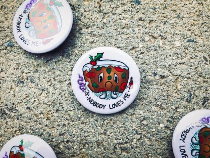 Sad Fruitcake Pinback Button