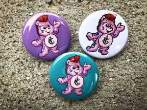 Carebear Tattoos logo pin back button
