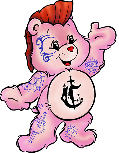 Tattooed Carebear Logo